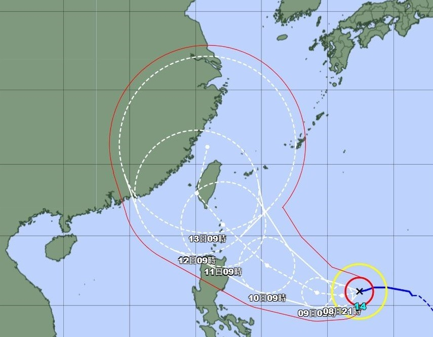 Typhoon Chanthu 'a beast,' Taiwan could issue sea warning Thursday