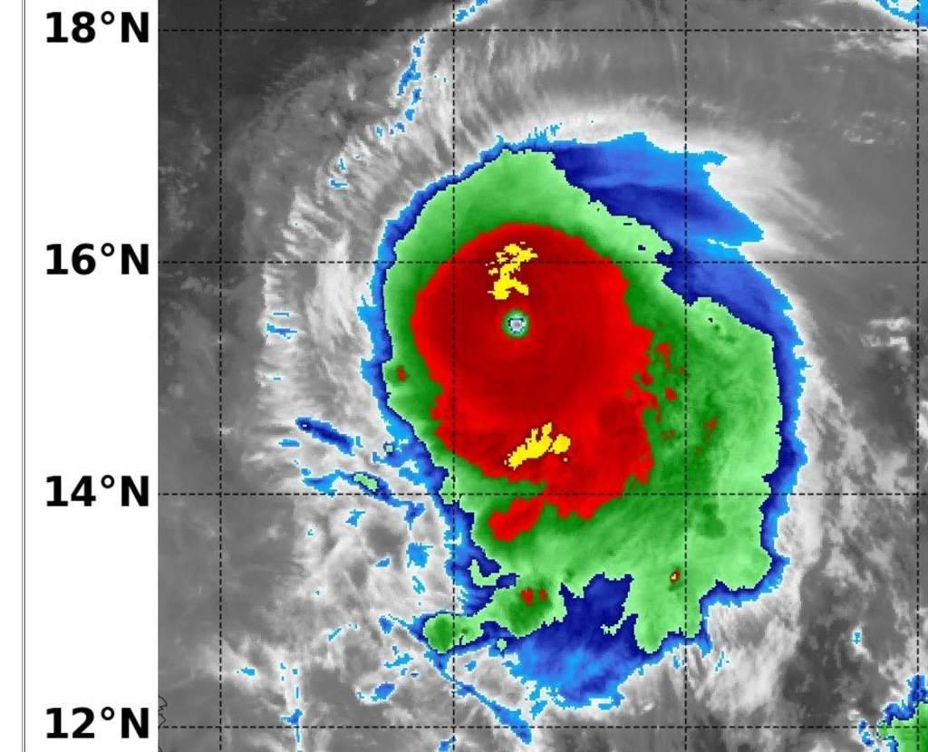 Satellite image of Typhoon Chanthu. (NAVY/NRL image)