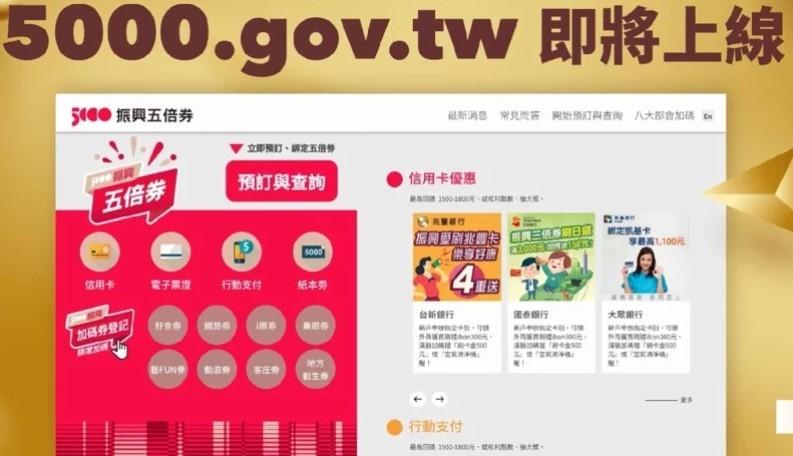 五倍券10/8上路!台灣人、永久居留權的外籍人士皆可領 懶人包一次看