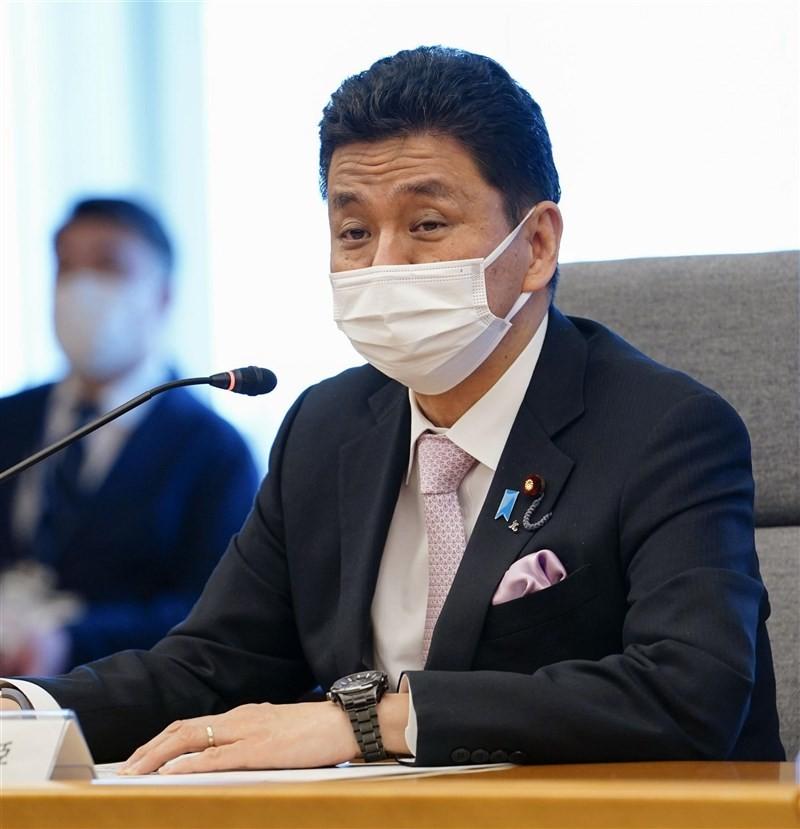 日本防衛大臣岸信夫(圖/中央社)