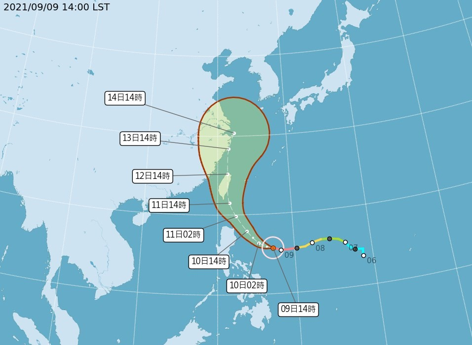 Super Typhoon Chanthu now on collision course with Taiwan
