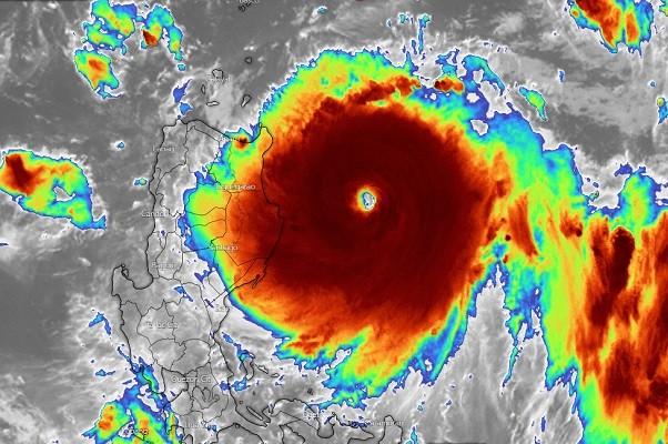 Satellite view of Super Typhoon Chanthu. (Windy image)