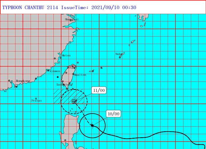Taiwan issues land warning for Super Typhoon Chanthu