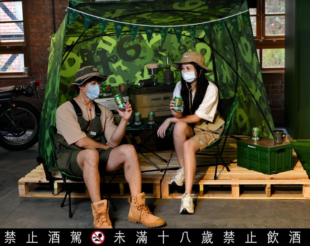 Heineken x Helinox 推出風格輕量露營系列商品(圖/海尼根)