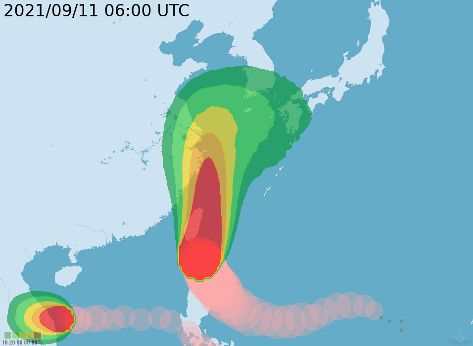Update: Weather bureau expands land warning to 17 cities, counties in Taiwan