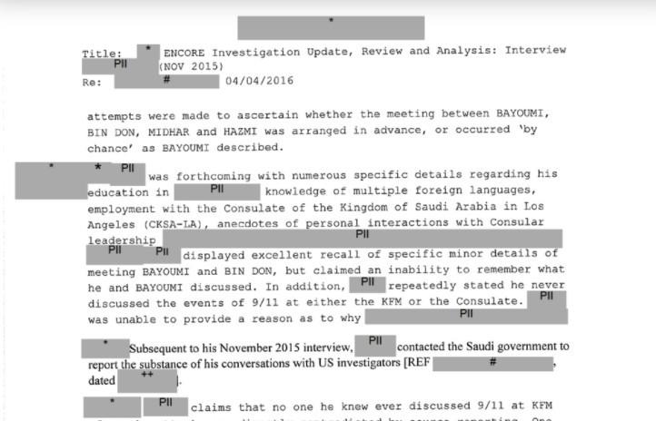 """美國聯邦調查局(FBI)在911恐怖攻擊20週年釋出一份與劫機者資訊相關的機密文件。(圖/翻攝自<a href=""""https://s3.d..."""