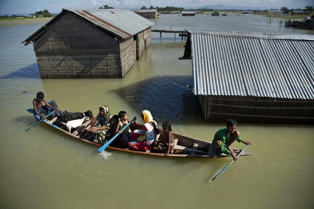 印度東北阿薩姆邦洪災(圖/AP)