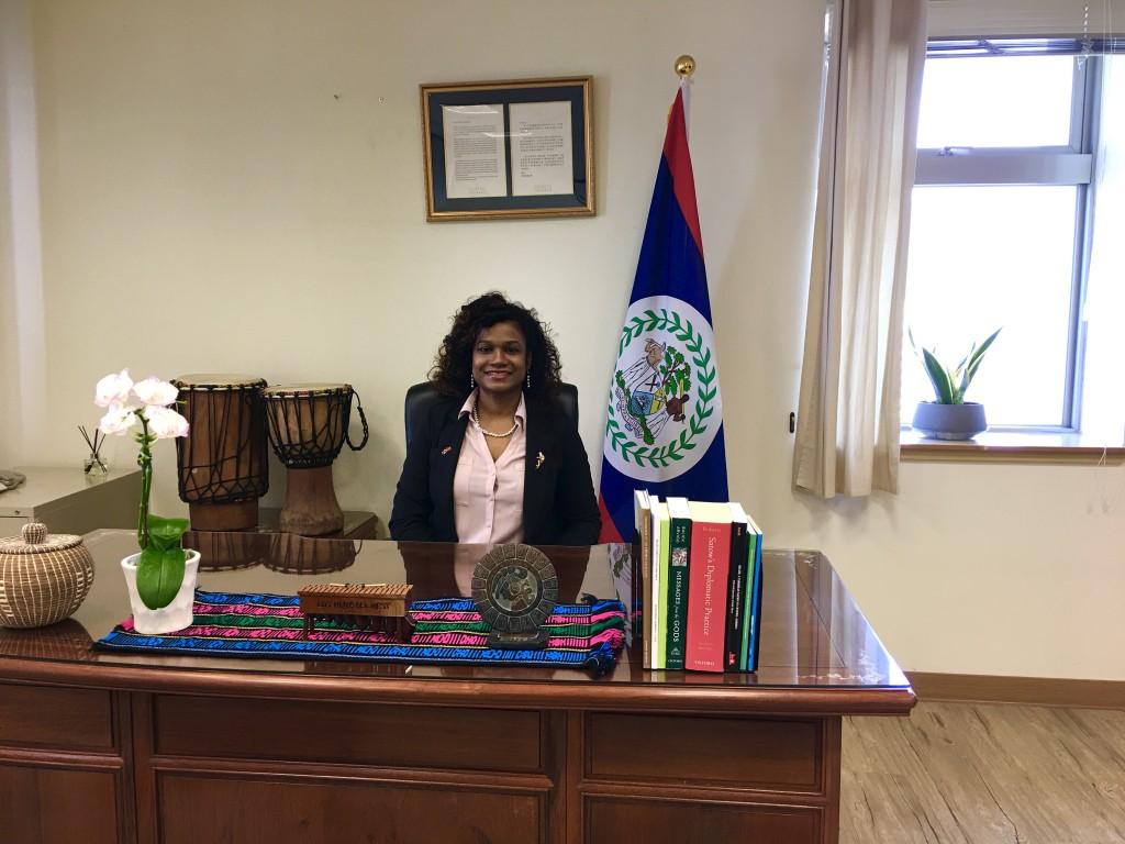 Belizean Ambassador to Taiwan Candice Pitts. (Taiwan News, Kelvin Chen photo)