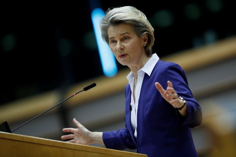 歐盟執委會主席馮德萊恩(Von der Leyen)15日宣佈「全球通道」計畫,被外界視為與中國「一帶一路」抗衡。(圖/美聯社) &nbs...