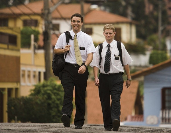 Missionaries walking in Sao Paulo, Brazil. (Churchofjesuschrist.org photo)
