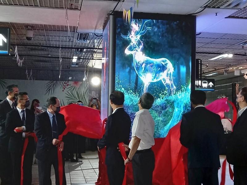 Taiwan's first immersive showcase venue opens in Taipei Metro mall. (TRTC photo)