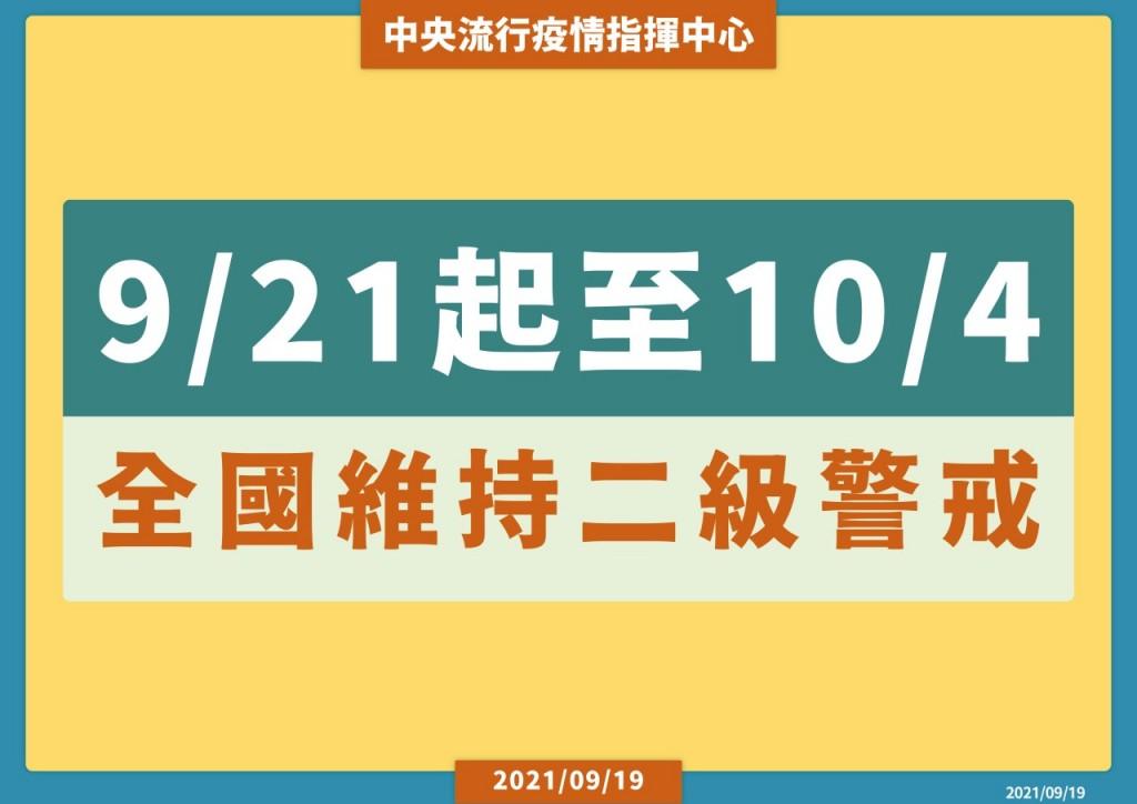 【慎防群聚】陳時中: 9/20後台灣2級警戒「不降級」•擬再鬆綁防疫措施 中秋烤肉規範•由各縣市訂定