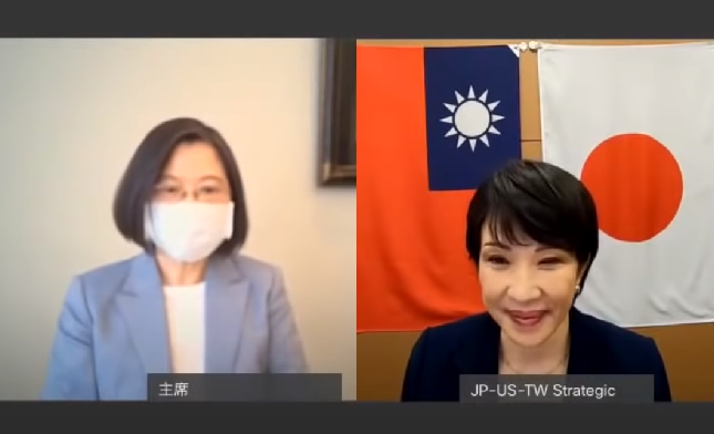 Tsai (left), Takaichi(YouTube, Takaichi Sanaescreenshot)