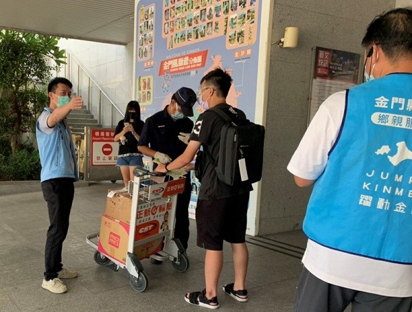 College student resists rapid COVID test at airport in Taiwan's Kinmen