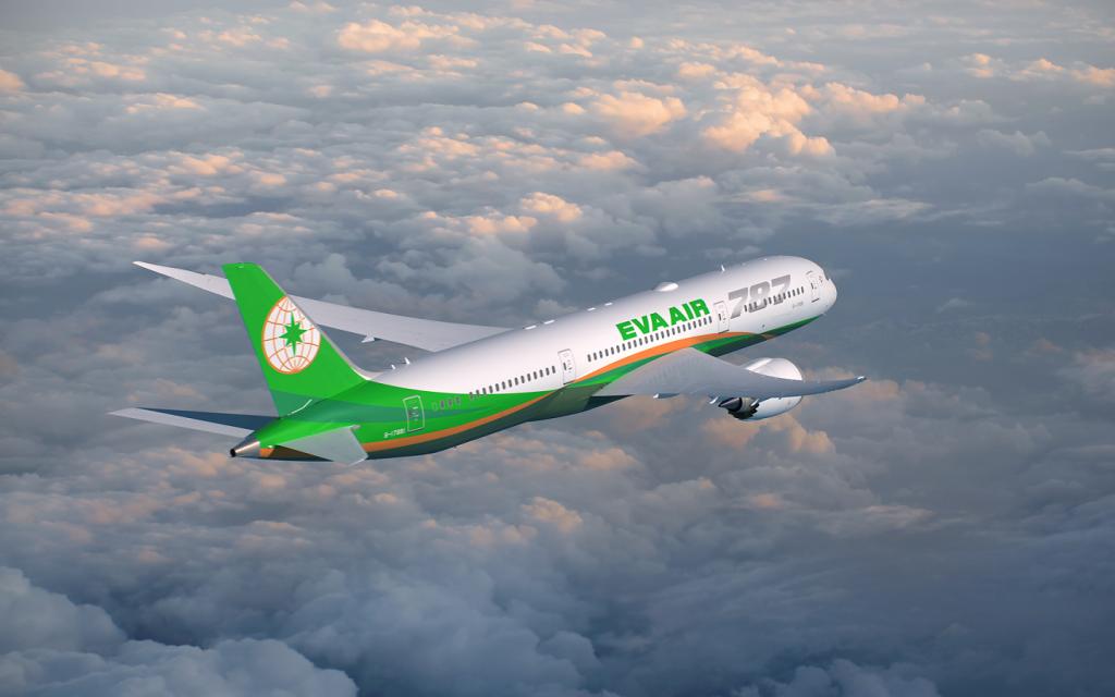Boeing 787 Dreamliner flown by EVA Air. (EVA Air image)