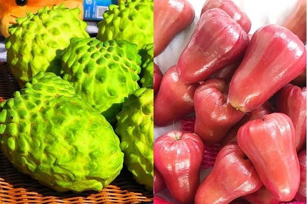 Custard apples (left), wax apples. (CNA photos)
