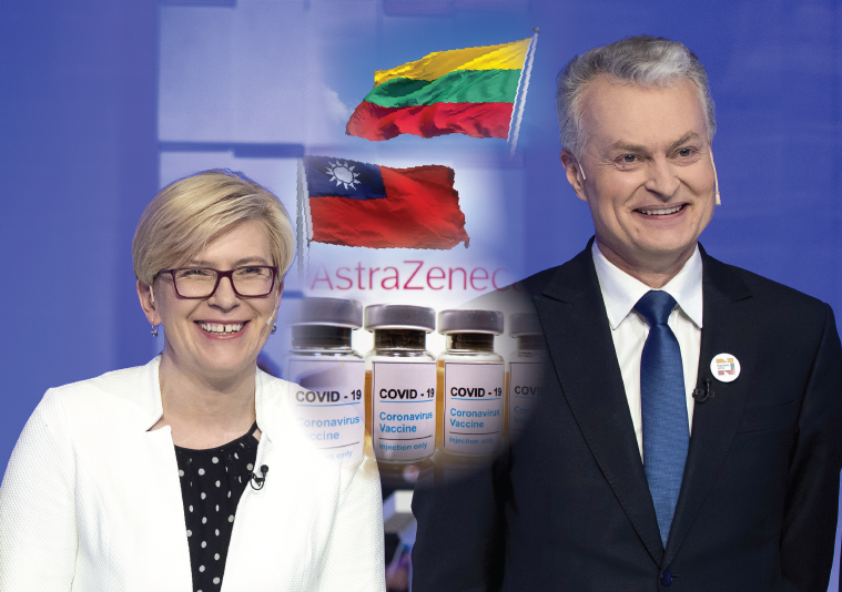 LithuanianPrime Minister Ingrida Simonyte(left) andPresident Gitanas Nauseda. (Taiwan News, Yuwen Lin image)