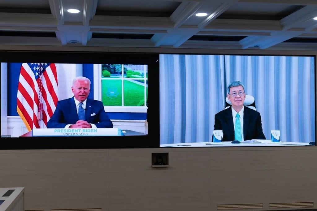 美國總統拜登(Joe Biden)主持「全球武漢肺炎高峰會」,台灣前總統陳建仁受邀參加(圖片外交部提供)