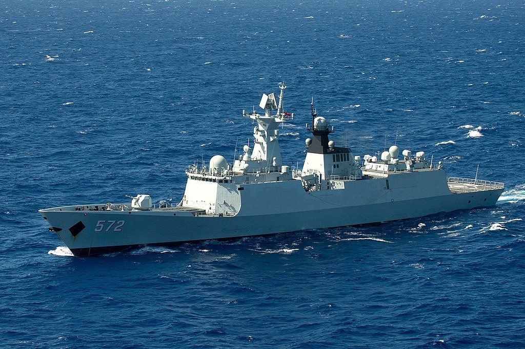 A Chinese frigate during RIMPAC exercises in 2016. (Wikicommons, Ace Rheaume photo)