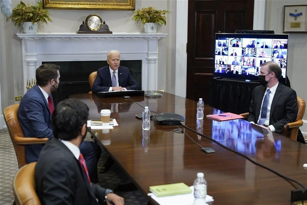U.S. President Joe Biden at the Thursday semiconductor summit.