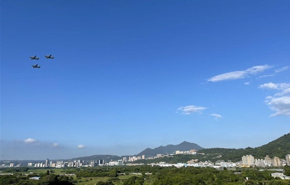 C-130s fly over Taipei.