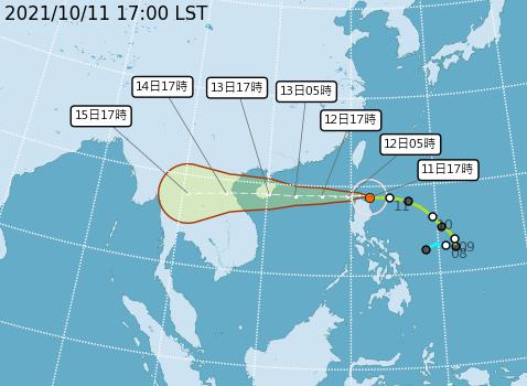 氣象局表示,颱風「圓規」外圍環流相當寬廣,從菲律賓到琉球附近都是影響區域。(氣象局提供)