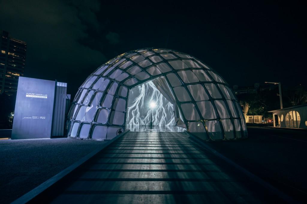 """Dome"" features immersive digital art. (Facebook, C-Lab photo)"