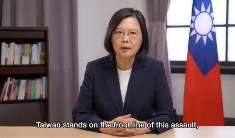 President Tsai Ing-wen. (Twitter, Tsai Ing-wen screenshot)