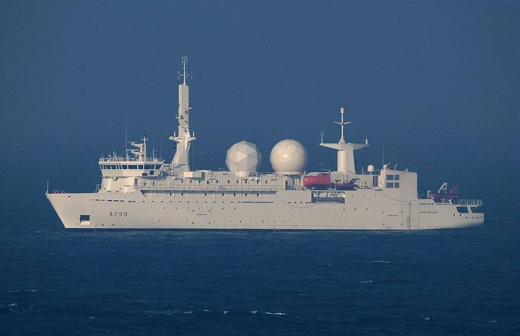 The French signals intelligence ship Dupuy de Lome. (Facebook, Marine nationale photo)