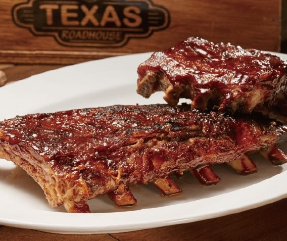 "Texas Roadhouse's ""award-winning ribs."" (Texas Roadhouse Taiwan photo)"
