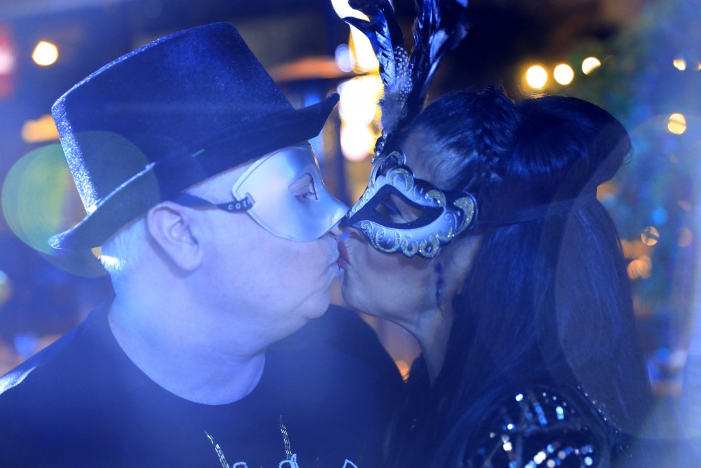 A Lebanese couple celebrate the New Year Eve at restaurant in Beirut, Lebanon, Friday, Jan. 1, 2021. Lebanon ended the year with more than 3,500 newly...