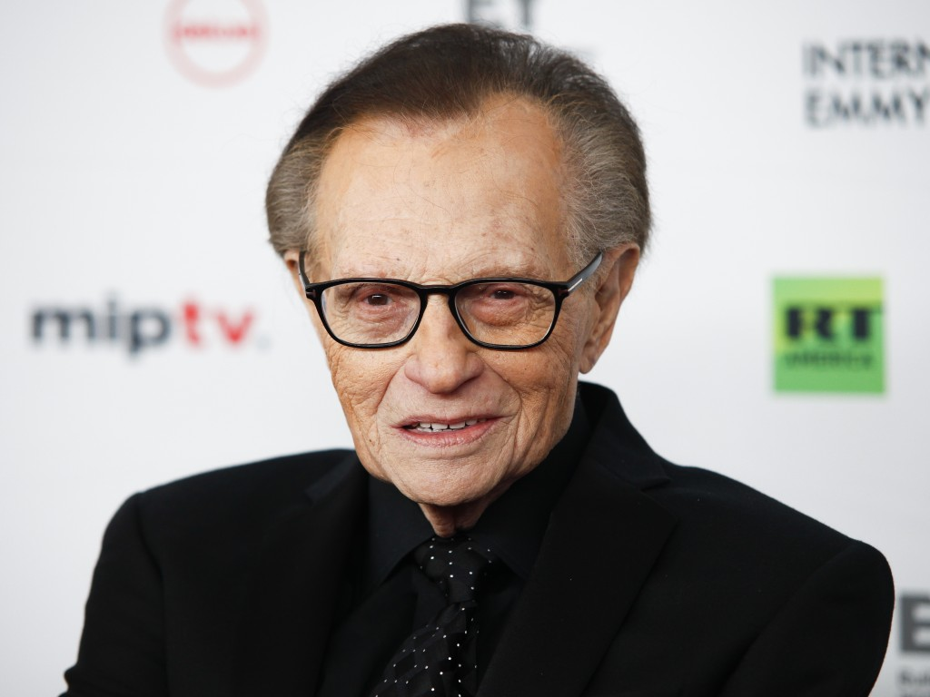 FILE - In this Nov. 20, 2017, file photo, Larry King attends the 45th International Emmy Awards at the New York Hilton, in New York. Former CNN talk s...