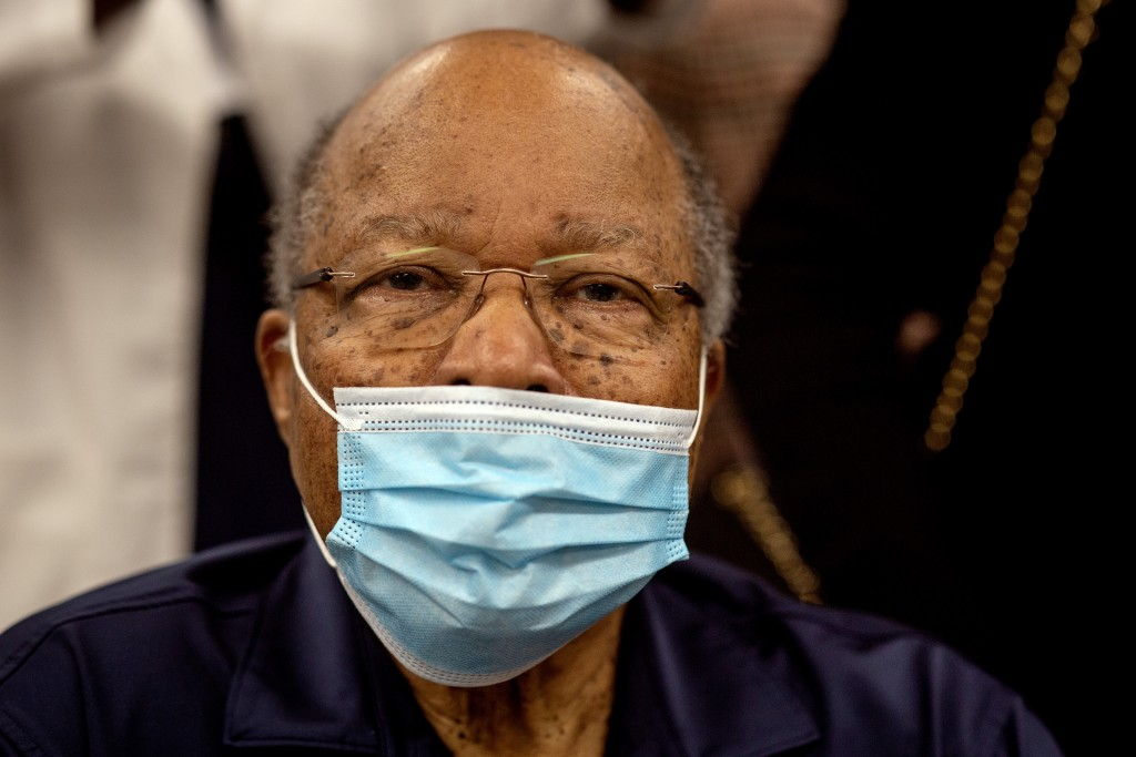 Former Health and Human Services Secretary Louis Sullivan is shown after receiving his COVID-19 vaccination on Tuesday, Jan. 5, 2021, at the Morehouse...