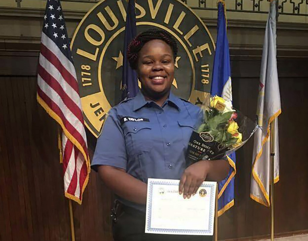 FILE - This undated file photo provided by Taylor family attorney Sam Aguiar shows Breonna Taylor in Louisville, Ky. Louisville has hired Erika Shield...