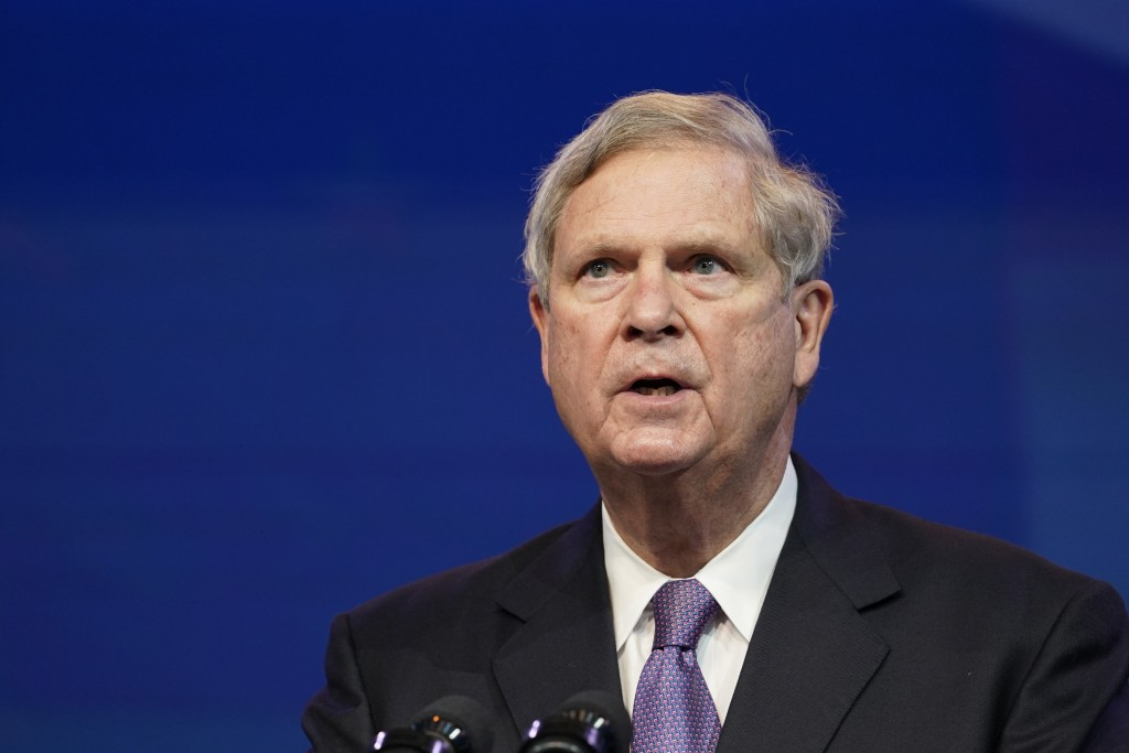 FILE - In this Dec. 11, 2020, file photo former Agriculture Secretary Tom Vilsack, who the Biden administration chose to reprise that role, speaks dur...