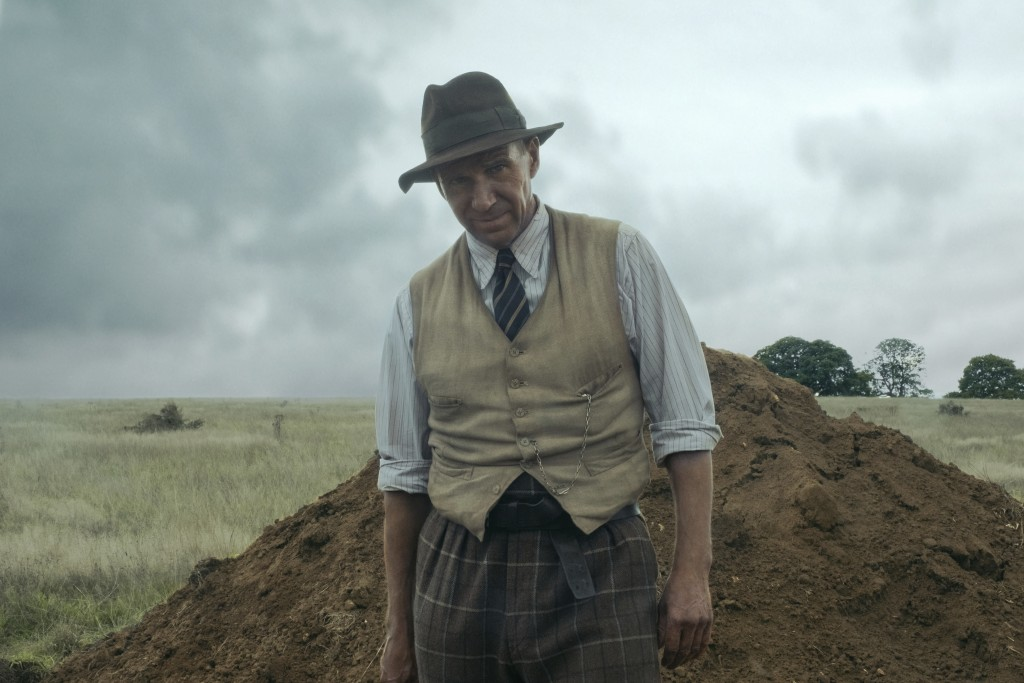 """This image released by Netflix shows Ralph Fiennes in a scene from """"The Dig.""""  (Larry Horricks/Netflix via AP)"""