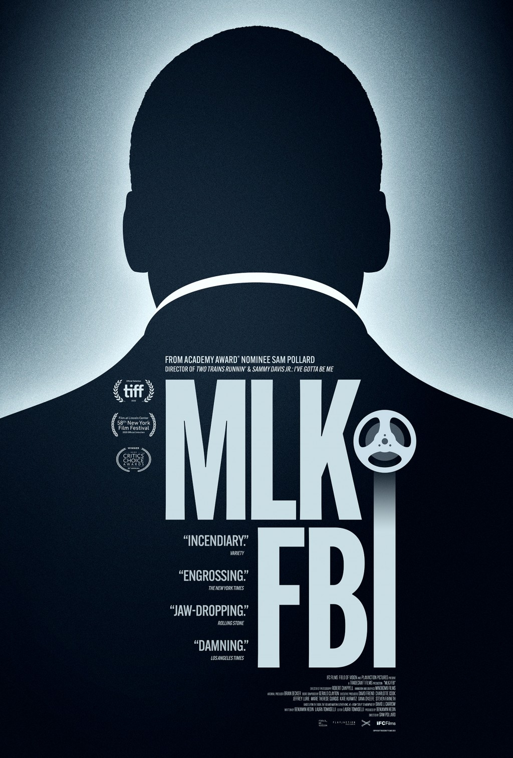 "This image released by IFC Films shows poster art for ""MLK/FBI,"" a documentary that shows how FBI director J. Edgar Hoover used the full force of his ..."