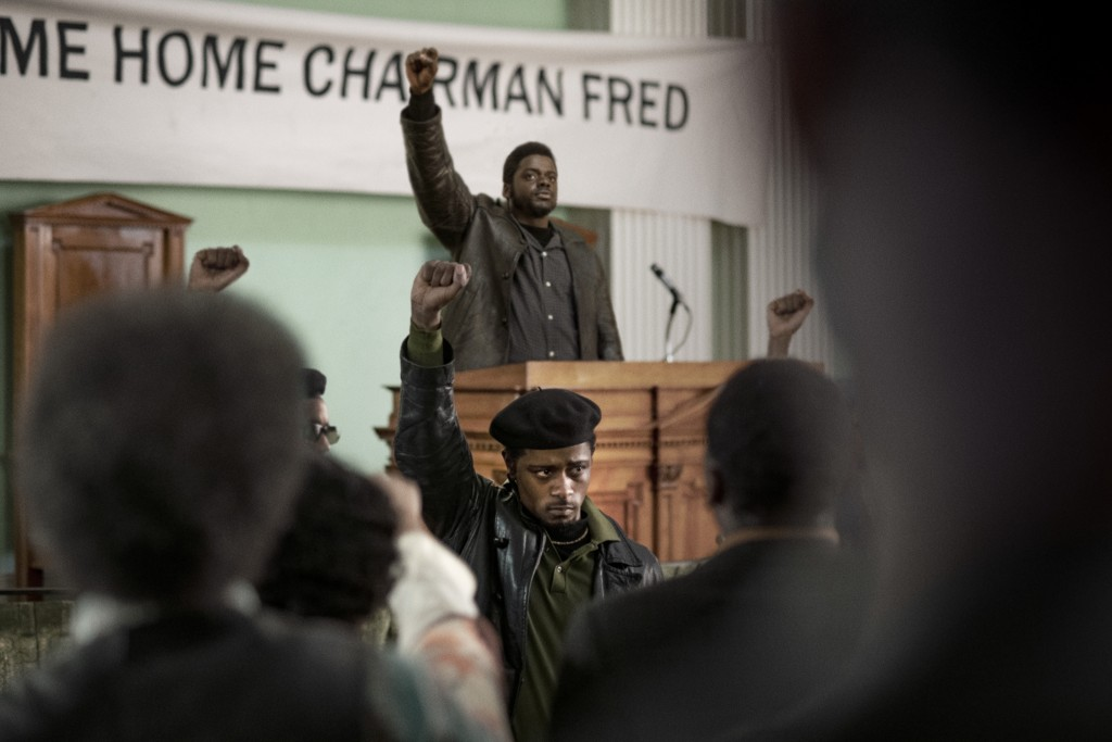 "This image released by Warner Bros. Pictures shows LaKeith Stanfield, foreground, and Daniel Kaluuya in a scene from the upcoming film ""Judas and the ..."