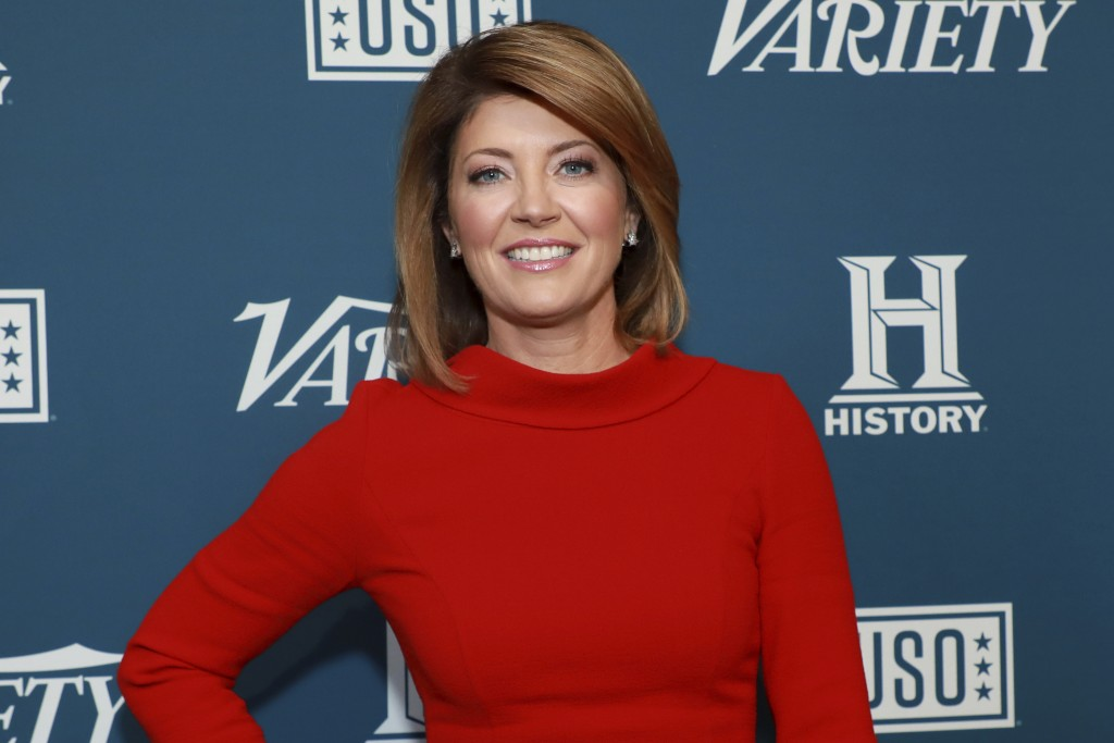 "FILE - Norah O'Donnell attends Variety's third annual ""Salute to Service"" celebration on Nov. 6, 2019, in New York. The CBS Evening News anchor says s..."