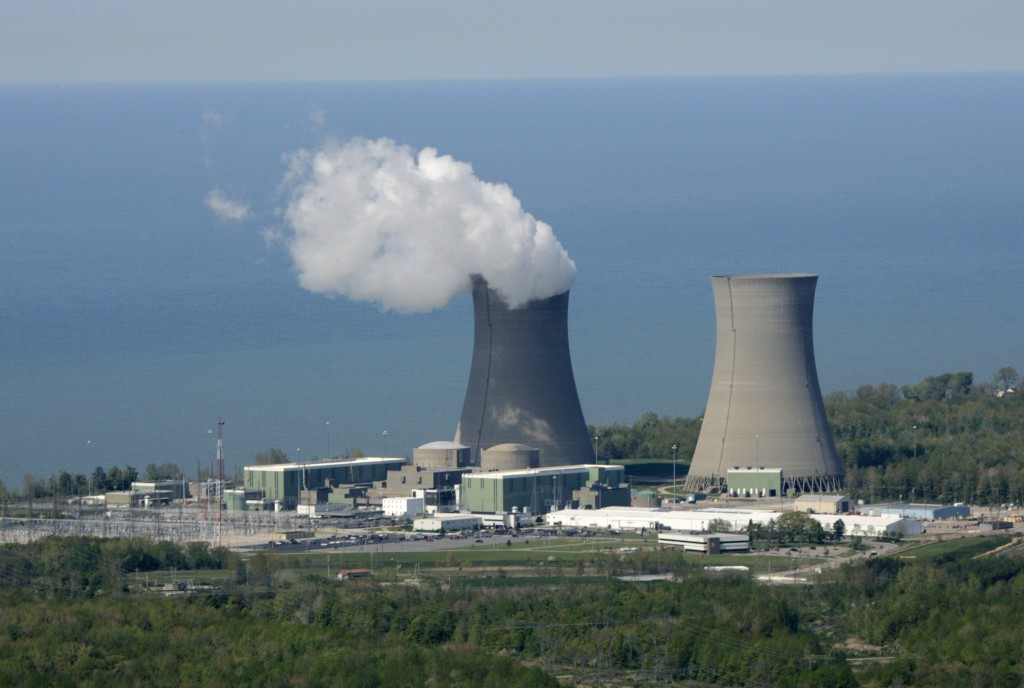 FILE-This May 20, 2005 file photo shows the Perry Nuclear Power Plant on the shores of Lake Erie in North Perry, Ohio. Across the nation, a handful of...