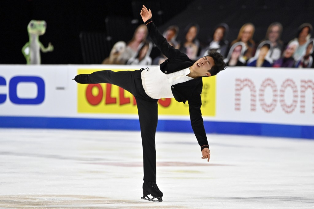 FILE - Nathan Chen of the United States competes during the men's short program of the International Skating Union Grand Prix of Figure Skating Series...