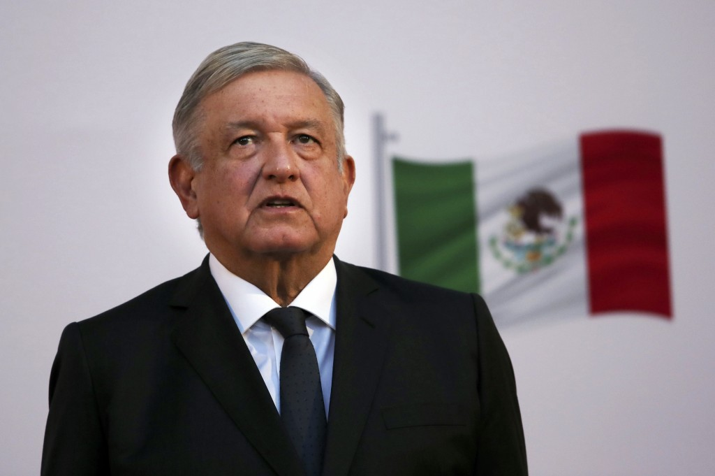 FILE - In this Dec. 1, 2020 file photo, Mexican President Andrés Manuel López Obrador attends the commemoration of his second anniversary in office at...