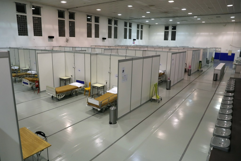 Beds are ready to receive the first patients at a field hospital set up in a sports hall in Lisbon, Wednesday, Jan. 20, 2021. Portugal's new daily COV...