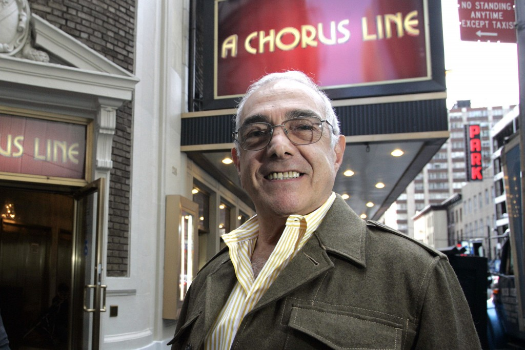 FILE - In this Sept. 29, 2006 file photo, Tony Award-winning choreographer Bob Avian poses in front of the Gerald Schoenfeld Theatre, home of the revi...