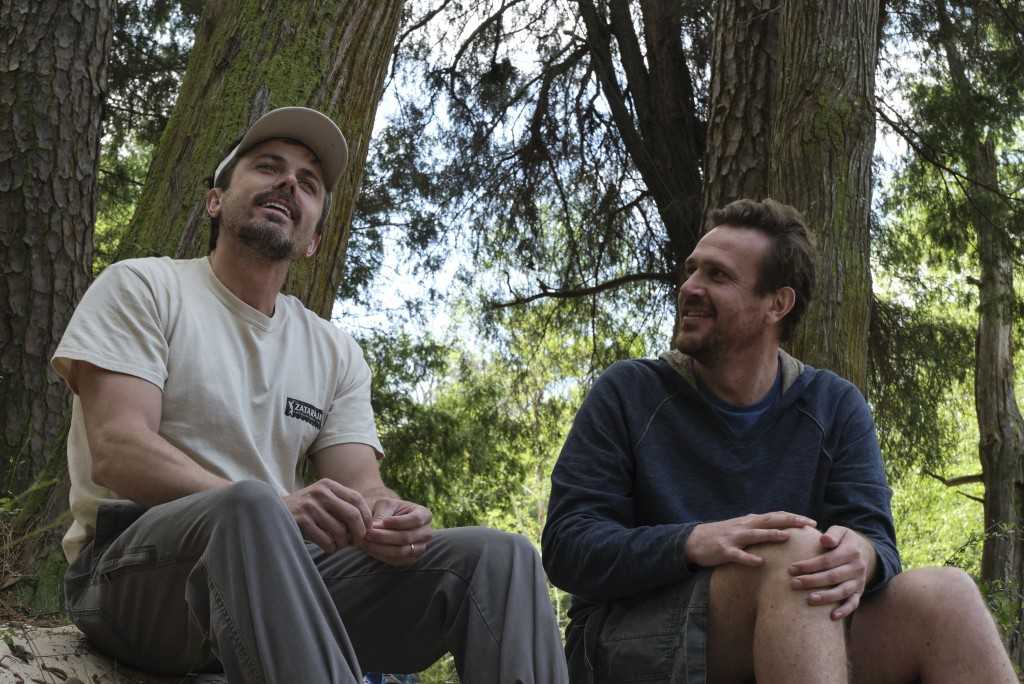 """This image released by Gravitas Ventures shows Casey Affleck, left, and Jason Segel in a scene from """"Our Friend."""" (Claire Folger/Gravitas Ventures via..."""