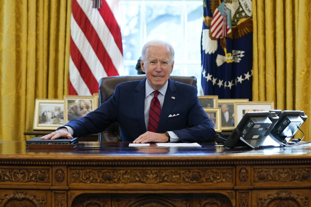 美國新任總統拜登(美聯社圖片)