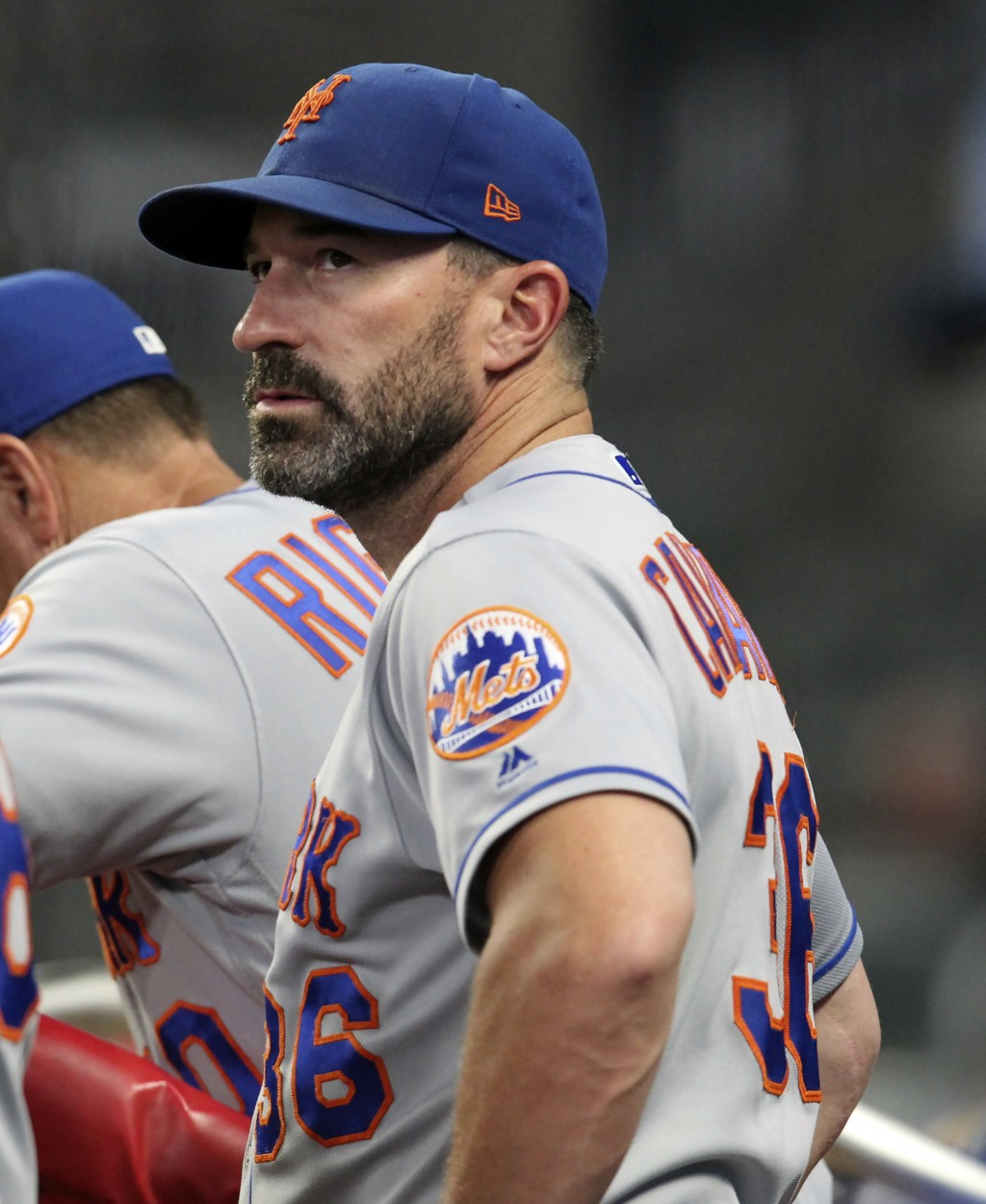 FILE - In this Thursday, Aug. 15, 2019, file photo, then-New York Mets manager Mickey Callaway watches during the eighth inning of a baseball game aga...