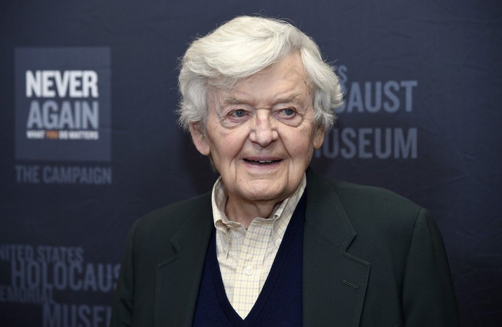 FILE - Hal Holbrook arrives at the Los Angeles Dinner: What You Do Matters in Beverly Hills, Calif. on March 16, 2015. Holbrook died on Jan. 23 in Bev...