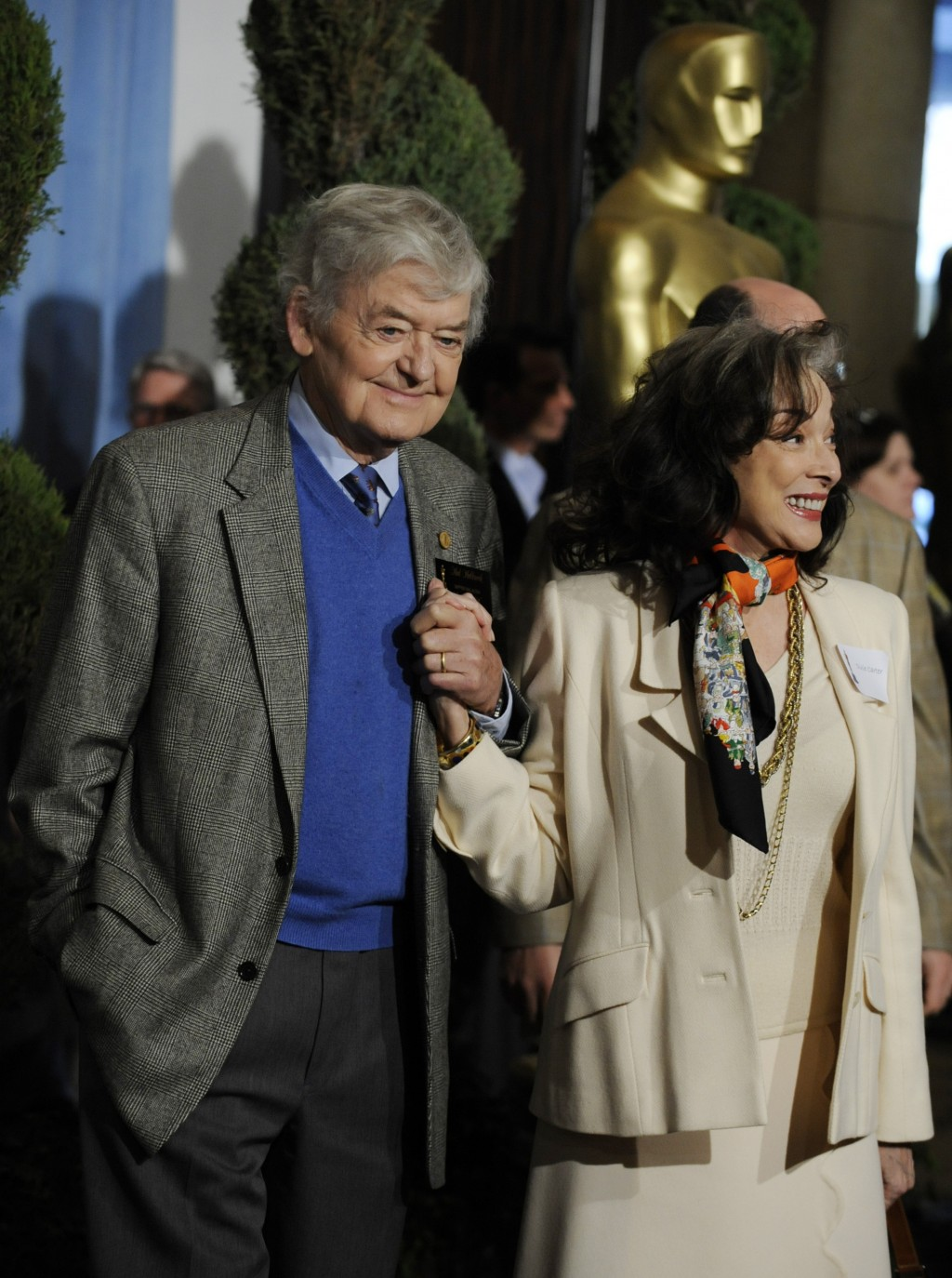 "FILE - Hal Holbrook, nominated for best supporting actor for his role in ""Into the Wild,"" appears with his wife, actress Dixie Carter, at the Academy ..."