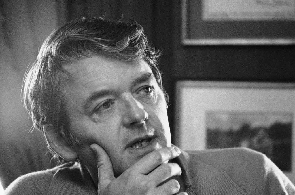 FILE - Actor Hal Holbrook appears during an interview in his New York apartment on Feb. 8, 1973. Holbrook died on Jan. 23 in Beverly Hills, California...